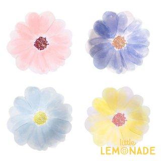 【Meri Meri】 お花のペーパープレート フラワーガーデン 4色8枚入り お花型の紙皿 イースター(45-4349/185320)