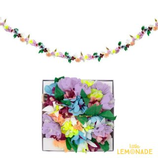【Meri Meri】ブロッサムフラワーガーランド ホームパーティー 誕生日 ファーストバースデー ウェディング お花のガーランド(45-4372/188836) ◆SALE
