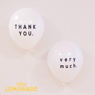 【風船】パーティーバルーン 5枚パック 「THANK YOU VERY MUCH」 ホワイト サンキュー