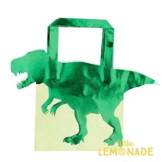 【Ginger Ray】恐竜のトリートバック 5枚入り 紙袋 ペーパーバック ティラノサウルス (RR-314)