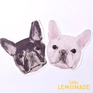 犬のペーパーナプキン 2柄 20枚入り 紙ナプキン dog paper napkin 小池ふみ フレンチブルドッグ