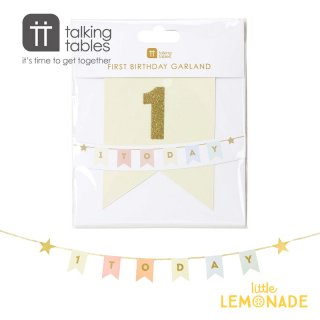 【Talking Tables】We Heart Birthdays 1 Today Garland(BDAY-GARLANDONE) トーキングテーブルス