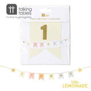 【Talking Tables】We Heart Birthdays 1 Today Garland(BDAY-GARLANDONE) トーキングテーブルス