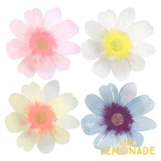 【Meri Meri】 お花のペーパープレート フラワーガーデン ◇ラージサイズ 4色8枚入り お花型の紙皿 イースター(45-4348/185311)