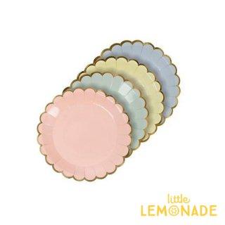 【Meri Meri】パステルカラー4色入り 極小 ペーパープレート カナッペプレート 8枚入り 豆皿 紙皿(45-2050/140878)