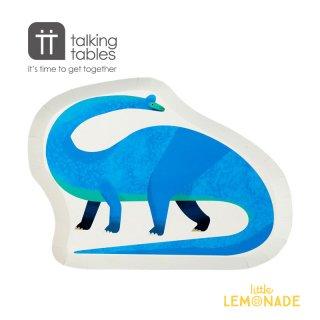 【Talking Tables】恐竜 ブラキオサウルス ダイカットプレート(DINO-PLATE-DINO) トーキングテーブルス