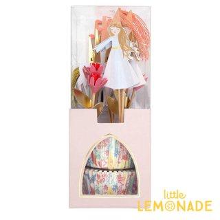 【Meri Meri 】マジカルプリンセス カップケーキキット フードピックとベーキングカップのセット  (186586)