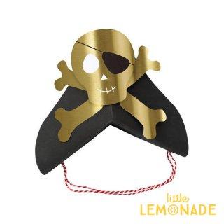 【Meri Meri】 海賊 ゴールドドクロマークのペーパーハット 8個入りパイレーツ (186631)