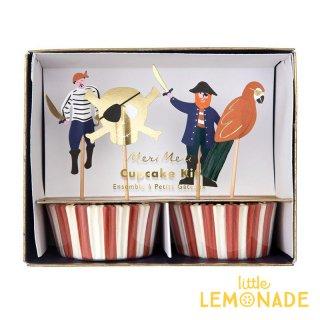 【Meri Meri】 海賊 カップケーキキット パイレーツ ピックとベーキングカップのセット (188287)