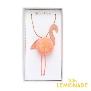 【Meri Meri メリメリ】ネックレス Flamingo ポンポンネックレス キッズ用アクセサリー (187243)