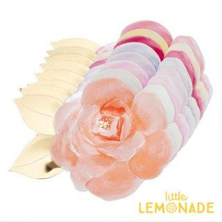 【Meri Meri メリメリ】 お花のペーパープレート ローズガーデン8色 8枚入り (192328)