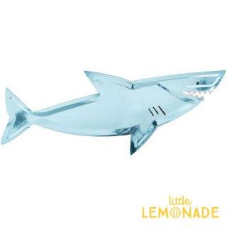 【Meri Meri メリメリ】 シャーク ダイカット 大皿 ペーパープラッター 4枚入り サメ(193173)