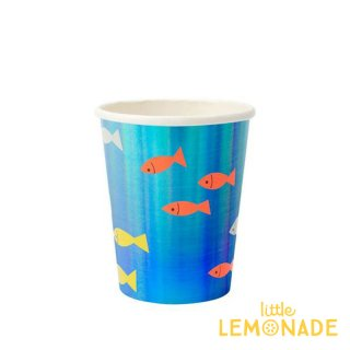 【Meri Meri】お魚デザイン ペーパーカップ 8個入り アンダーザシー(193146)