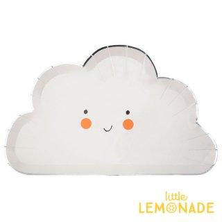 【Meri Meri メリメリ】 雲の形の ペーパープレート 8枚入り HAPPY CLOUD(186847)