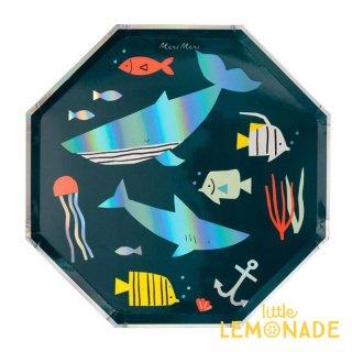 【Meri Meri メリメリ】 UNDER THE SEA ペーパープレート 海 大皿 紙皿 8枚入り(193128)