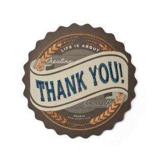 【amabro アマブロ】刺繍入り メッセージカード / THANK YOU ◆SALE