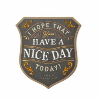 【amabro アマブロ】刺繍入り メッセージカード / HAVE A NICE DAY ◆SALE