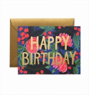 【RIFLE PAPER ライフルペーパー】バースデーカード/ Floral Foil Birthday (フローラルフォイル) (GCB018)