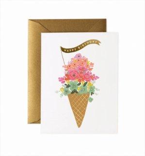 【RIFLE PAPER ライフルペーパー】バースデーカード/ Ice Cream Birthday(アイスクリームバースデー) (GCB039)