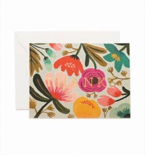 【RIFLE PAPER ライフルペーパー】サンクスカード/Gold Floral Thank You(ゴールドフローラル) (GCT008)