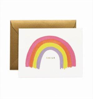 【RIFLE PAPER ライフルペーパー】ベイビーカード/Smile Rainbow(スマイルレインボー) (GCM134)