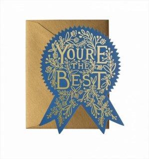 【RIFLE PAPER ライフルペーパー】ウェルネスカード/You're The Best(ベストエンブレム) (GCM110)