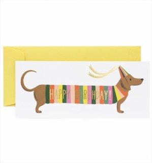 【RIFLE PAPER ライフルペーパー】ランドスケープカード/Hot Dog(ホットドッグ・バースデー) (G1B003)