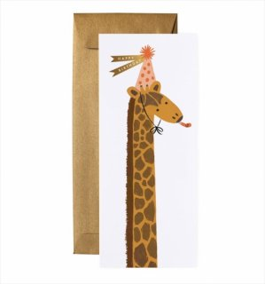 【RIFLE PAPER ライフルペーパー】ランドスケープカード/Giraffe Birthday(きりん・バースデー) (G1B006)