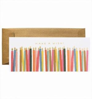 【RIFLE PAPER ライフルペーパー】ランドスケープカード/Make a Wish Candles(キャンドルズ・バースデー) (G1B007)