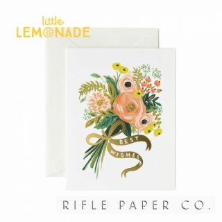 【RIFLE PAPER ライフルペーパー】ブライドブーケ/ メッセージカード BEST WISHES BOUQUET(GCW016)