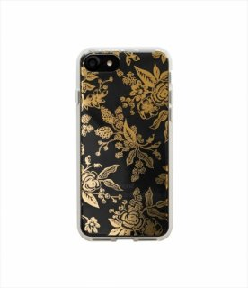 【RIFLE PAPER ライフルペーパー】iPhone7ケース / Clear Gold Floral Toile  (ゴールドトワレ) (PIC050-7T)