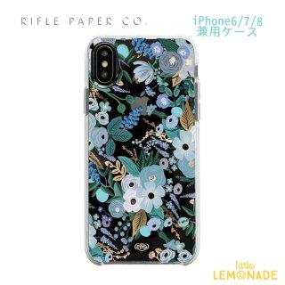 【RIFLE PAPER ライフルペーパー】iPhone6/7/8兼用ケース /クリアブルーガーデン(PIC058-678)