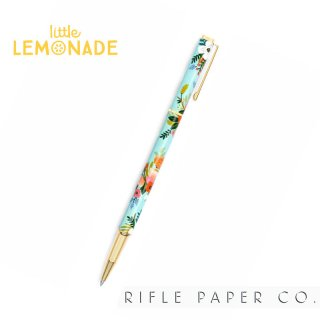 【RIFLE PAPER ライフルペーパー】フローラペン 0.7mm LIVELY FLORAL 水色 (PEN003)