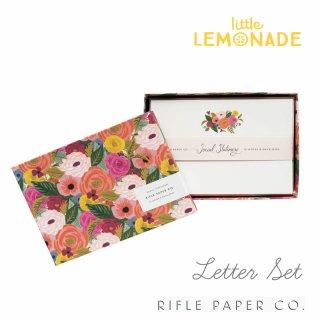 【RIFLE PAPER ライフルペーパー】箱に入ったレターセット 12枚入りジュリエットローズ 花柄(FNM003)