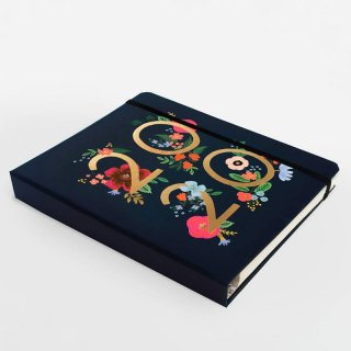 2019年8月はじまり【2020年 スケジュール帳 】【RIFLE PAPER】ワイルドローズ /2020 WILD ROSE 手帳 スケジュールブック オフィス ネイビー