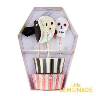 Meri Meri ハロウィン ピック&ケース カップケーキキット 2019 ハロウィーン フードピック トッパー 製菓 (198361)