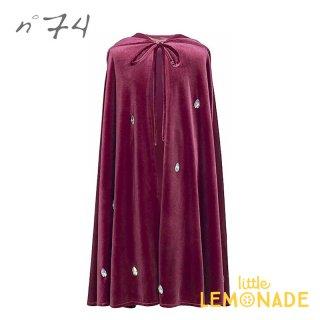 【Numero74 ヌメロ74】 子供用ケープ ベルベットケープ レッドマカロン ハロウィン liea cape velvet red macaron