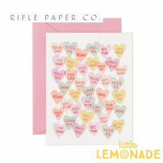 【RIFLE PAPER ライフルペーパー】スイートハートメッセージカード/SWEET HEART(GCHV04)