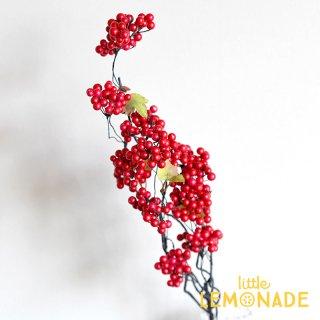 フェイクグリーン【レッドベリーブランチ】赤い実 アーティフィシャルフラワー 造花 クリスマス 人工観葉植物 fgr (18509)
