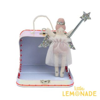 【Meri Meri】持ち運びトランクケース付き ミニドール 【Mini Evie Doll Suitcase】人形 妖精 ステッキと羽の着せ替えキット付き クリスマス メリメリ(198126)