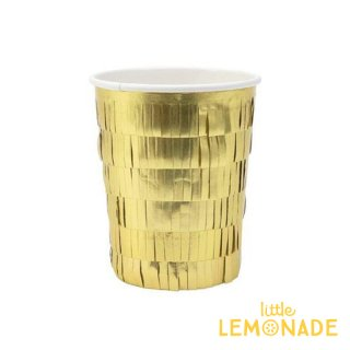 【Meri Meri メリメリ】ゴールド フリンジ ペーパーカップ 8個入り Gold Fringe cup 紙コップ 紙カップ クリスマス(197205)