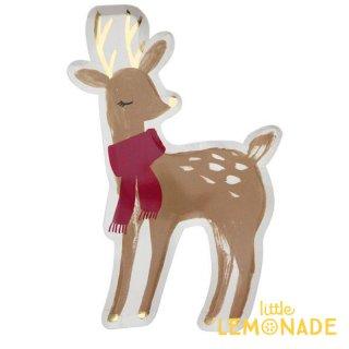 【Meri Meri メリメリ】 ウッドランドディア バンビのペーパープレート 8枚入り 【Woodland Deer Plate】 紙皿 クリスマス 鹿(196458)