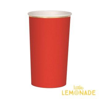 【Meri Meri メリメリ】レッド ゴールド ペーパーカップ 8個入り トールサイズ  紙コップ 紙カップ クリスマス (181297)
