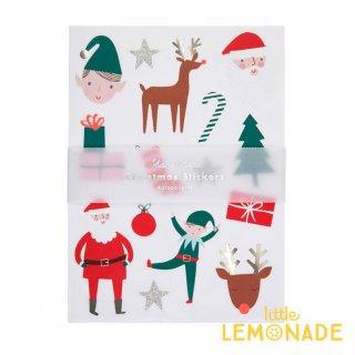 【MeriMeri】 クリスマスアイコンシールセット 10枚入り サンタ トナカイ ツリー エルフ ステッカー メリメリ  (198426)