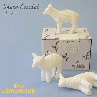 ひつじのキャンドル 3本セット SHEEP CANDLE 【インテリア オブジェ ディスプレイ クリスマス テーブルコーディネート】(105923)