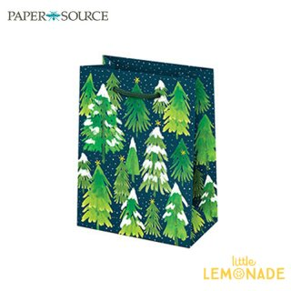 【Paper Source】クリスマス ギフトバック スモールサイズ 【Snowy Trees 】 X'mas Christmas 紙袋 ペーパーバッグ (3000717)
