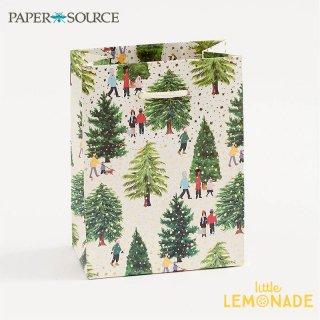 【Paper Source】 クリスマス ギフトバック スモールサイズ 【Christmas Tree Farm】 X'mas Christmas 紙袋 ペーパーバッグ (3001050)