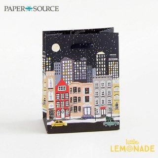 【Paper Source】 クリスマス ギフトバック スモールサイズ 【Snow Covered Street】 X'mas Christmas 紙袋 ペーパーバッグ (3001053)
