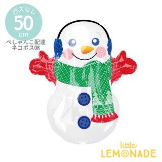 クリスマス風船 スノーマン【ぺしゃんこでお届け】 クリスマス 雪だるま アルミバルーン ディスプレイ 装飾 メリークリスマス 風船(40107)