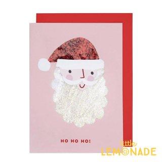 【Meri Meri】 サンタクロースのグリッターカード  【クリスマス ギフトカード グリーティングカード】(198872)